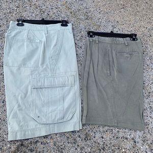 Khaki tommy Bahama cargo shorts 34+ Bachrach 33